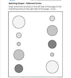 matching shapes - patterned circles
