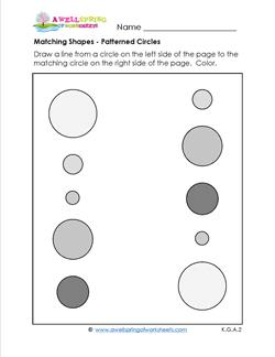 matching shapes - patterned circles