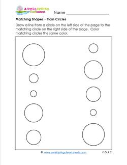 matching shapes - plain circles
