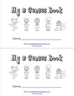 my five senses book - children