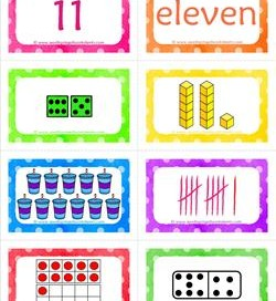 number cards matching game - number 11