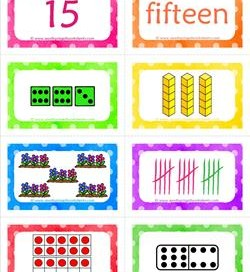 number cards matching game - number 15