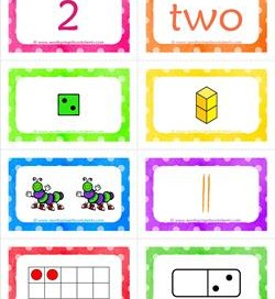 number cards matching game - number 2