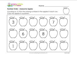Number Order - Awesome Apples