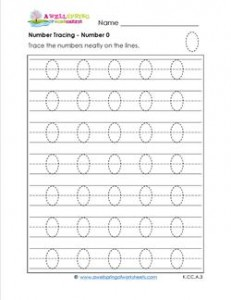 number tracing - number 0