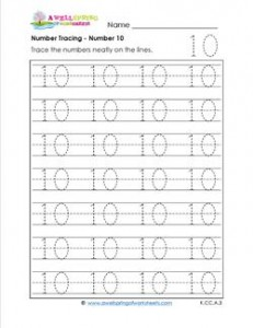 number tracing - number 10