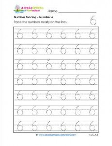 number tracing - number 6