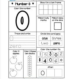 Number Worksheets for 0-20 - Kindergarten Number Worksheets