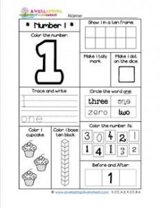 Number Worksheets - Number 1 Worksheet