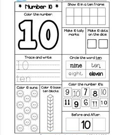 Number Worksheets - Number 10 Worksheet