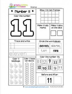 Number Worksheets - Number 11 Worksheet