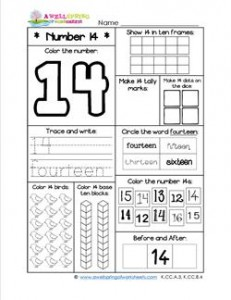 Number Worksheets - Number 14 Worksheet