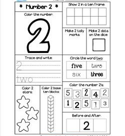 Number Worksheets - Number 2 Worksheet