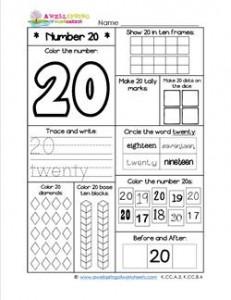 Number Worksheets - Number 20 Worksheet