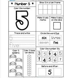 Number Worksheets - Number 5 Worksheet