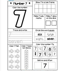 Math Worksheets- Kindergarten and First Grade | A Wellspring