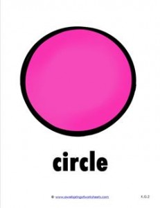 Plane Shape - Circle in Color