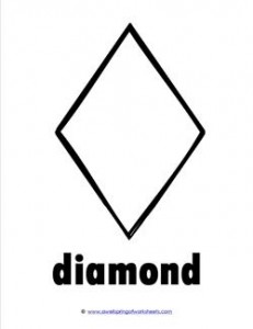plane shape - diamond - bw