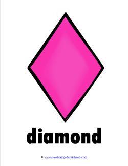 Plane Shape - Diamond Shape Card - Kindergarten Geometry