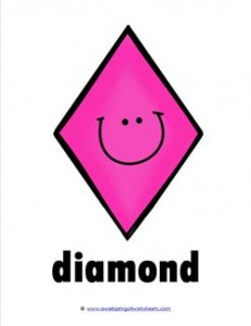 Plane Shape - Diamond - Smile