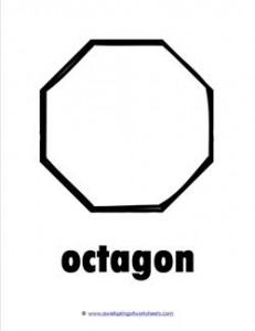 plane shape - octagon - bw