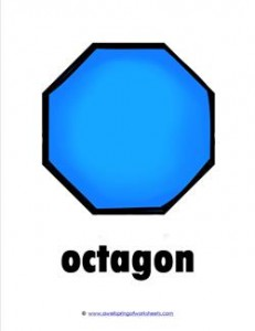 plane shapes - octagon - color