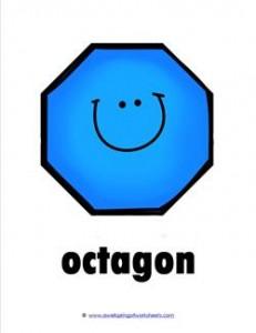 plane shape - octagon - smile