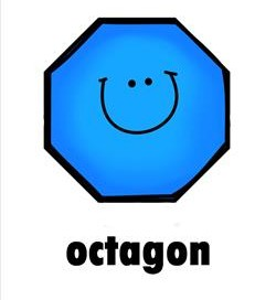 plane shape - octagon - smile