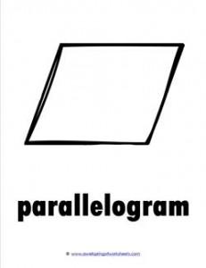 plane shape - parallelogram b&w