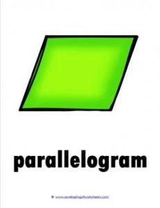plane shape - parallelogram color