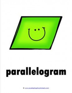 plane shape - parallelogram - smile