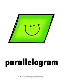 plane shape - parallelogram - smile
