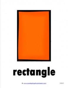 plane shape - rectangle - color