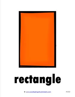 Plane Shape - Shape Cards - Rectangle in Color | A Wellspring