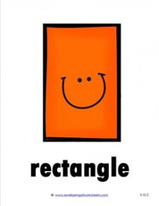 plane shape- rectangle - smile