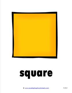 Plane Shape - Shape Cards - Square in Color | A Wellspring
