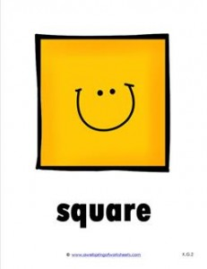 plane shape - square - smile