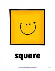 plane shape - square - smile