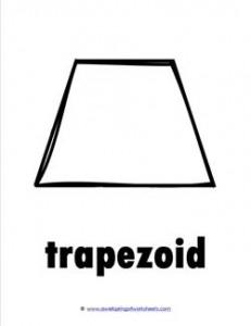 plane shape - trapezoid - b&w