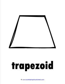 plane shape shape cards trapezoid learning shapes. Black Bedroom Furniture Sets. Home Design Ideas