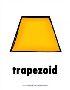 plane shape - trapezoid - color