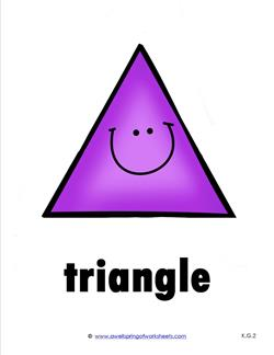 Plane Shape - Shape Card - Triangle with a Smile