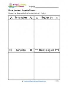 Plane Shapes - Drawing Shapes - Kindergarten Geometry