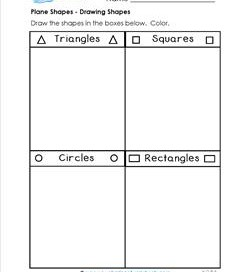 Plane Shapes - Drawing Shapes - Kindergarten Geometry