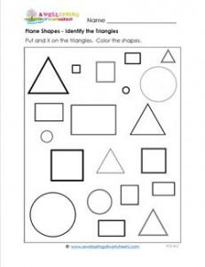 Plane Shapes - Identify the Triangles - Kindergarten Geometry