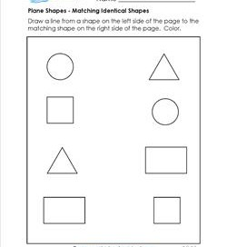 Plane Shapes - Matching Identical Shapes