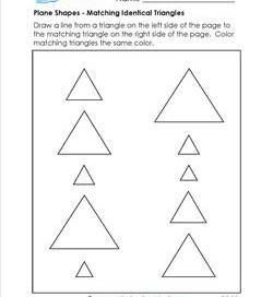 Plane Shapes - Matching Identical Triangles - Kindergarten Geometry