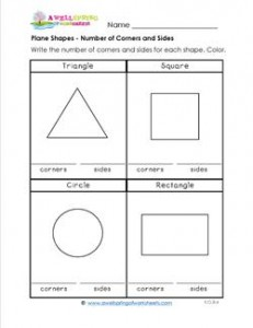 Plane Shapes - Number of Corners & Sides