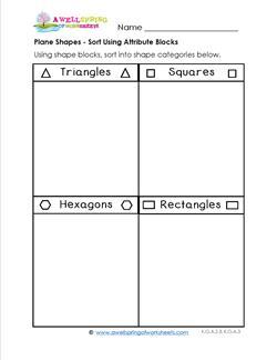 Plane Shapes - Sort Using Attribute Blocks