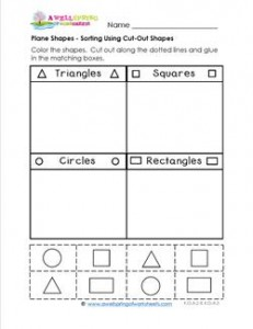 Plane Shapes - Sort Using Cut Out Shapes